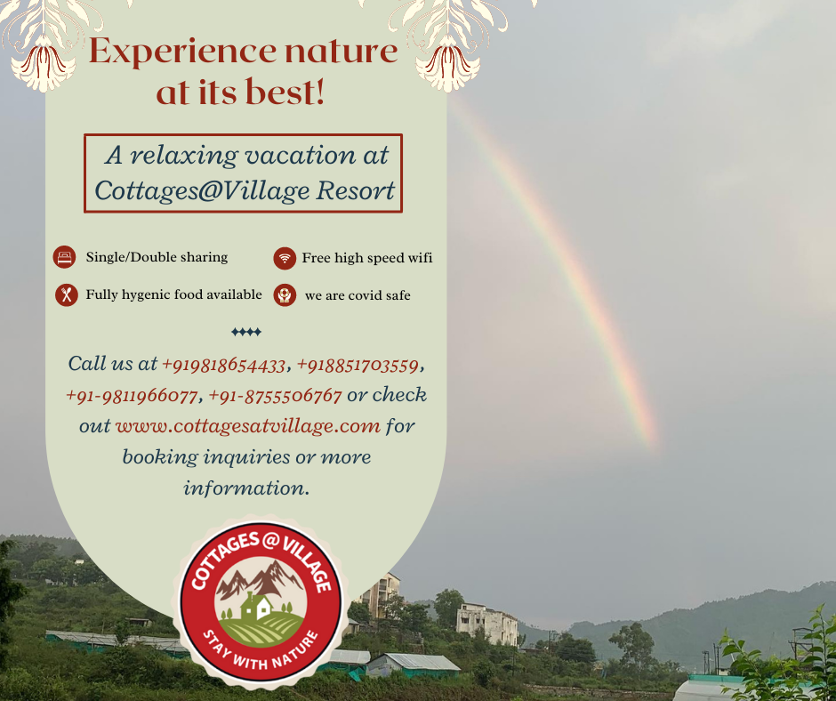Experience nature at its best! – A relaxing vacation at Cottages@Village Resort